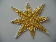 NUOVO! ORIG. 80er 90er ricamate STAFFA immagine Patch otto zackiger STELLA STAR ORO