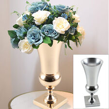 43cm Large Stunning Gold Iron Luxury Flower Vase Urn Wedding Table Home Decor