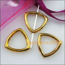 10 New Charms Square Triangle Spacer Frame Beads 15mm Antiqued Gold