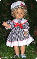 c1940s hard composition doll redressed new wig