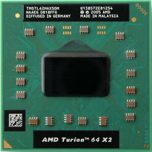 Processore AMD Turion 64 X2 TL-62 2.1GHz, socket S1 Mobile CPU per Notebook P61