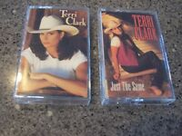 "Lot of Two Terry Clark Cassettes ""Just the Same"" and ""Self-Titled"""