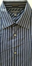 BANANA REPUBLIC Men Fitted Italy Cotton Long Sleeve Polo Dress Shirt - Small