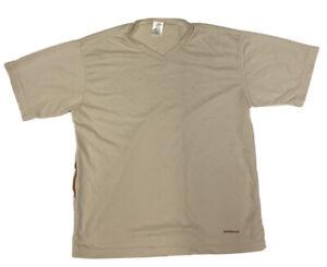 PATAGONIA Men's Beige CAPILENE Performance S/S Hiking Shirt Size Medium USA