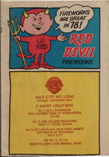 original Fireworks Are Great in `78! Red Devil Fireworks catalog Daly City Lions