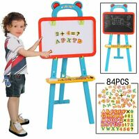 Childrens BLUE 3:1 Learning Blackboard Whiteboard Magnetic Letters Easel Art Set