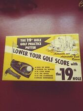 Vintage 1955 The 19Th Hole Golf Practice Putter Automatic Return Brandell Prod.