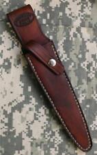 Brown Leather Custom Randall Sheath for Fairbairn Sykes Knives USA HANDMADE!