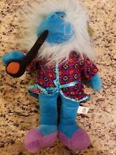 "NWT Good Stuff Plush Blue Monkey In Smoking Jacket w/ Pipe Fuzzy Head 14"""
