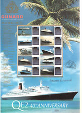 Cunard QE2 40th Anniversary Signed by Commodore- Ltd Ed Buckingham Smiler Sheet