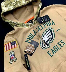 Nike NFL Philadelphia Eagles Salute to Service Mens Pullover Hoodie M, XL, 2XL