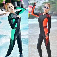 Woman Full Body Swimsuit Scuba Lace Swim Jumpsuit Rash Guards Swimwear Dive Skin