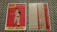 1958 Topps Mickey Mantle New York Yankees #487 Baseball Card RP