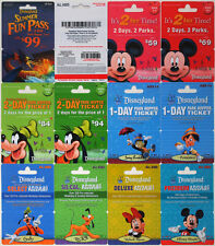 11 Different DISNEYLAND Passport Disney Gift Cards 2009: Fantasmic, Mickey++(+1)