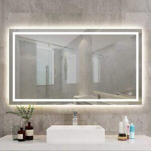 600x800mm Anti-fog LED Illuminated Bathroom Mirror with Bluetooth Speaker
