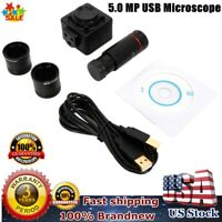 HD 5MP Microscope Digital Video Camera Electronic Eyepiece with Adapter USB 2.0