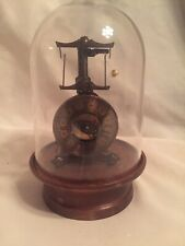Vintage Guild Clock Miniature Flying Pendulum Motion Metal Clock Collectable