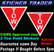 Motor Racing Tow Point Stickers Decals CAMS APPROVED Rally Race Drift JDM Bomb