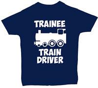 Trainee Train Driver Baby Children T-Shirt Top 0-3mths to 5-6Yrs Boy Girl Gift