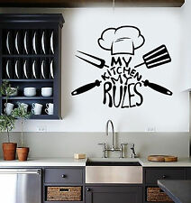 Vinyl Wall Decal Kitchen Quote Chef Restaurant Stickers Mural (ig3705)