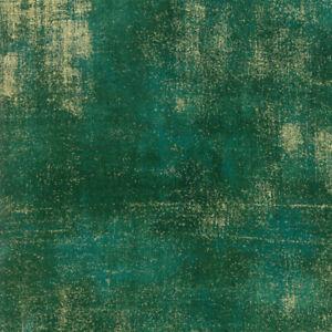 Grunge Metallic Pine SKU 30150 525M Gold on Green Moda Quilting Cotton Fabric