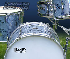 Dandy, Vintage, Repro Logo - Adhesive Vinyl Decal, for Bass Drum Head