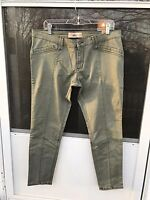 Red Camel NEW Skinny Super Stretch Denim Jeans Ava Fit Low Rise Green Teal