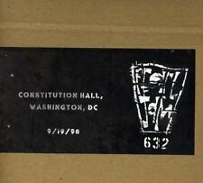 Pearl Jam - Official Bootleg: Constitution Hall DC 9/19/98 [New CD]