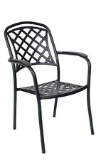 Lot of 10 Aluminum in Antique Bronze Finish Restaurant Outdoor Patio Chair