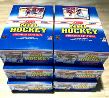 1990-91 Score Hockey Wax ~ LOT OF SIX (6) CELLO WRAPPED BOXES - BR0DUER, JAGR RC