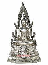 PHRA BUDDHA CHINNARAT THAILAND BHUDDHA BLESS AMULET STATUES WHITE BRASS OLD RARE