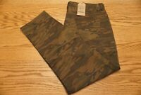 NWT MEN'S LUCKY BRAND ATHLETIC SLIM PANTS 410 Size 42 x 32 Russet Camo $89.50