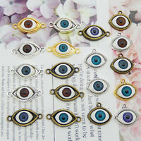 Wholesale Alloy Mixed Random Halloween Evil Eyes Series Pendant Charms 10pcs