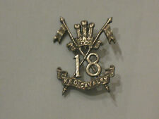 British India Army Military Cap Hat Badge 18 King Edward's Own Cavalry