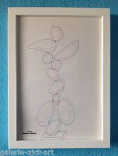 Raymond TRAMEAU Feutre Dessin 1960 Encadré Organique Nue Jean Arp Pablo Picasso