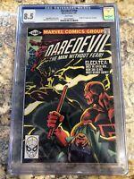 Daredevil #168 CGC 8.5 1981 1st app. Elektra White Pages. Frank Miller. TV Show
