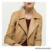 Massimo Dutti Leather Ladies Jacket RRP £250 Size Small - UK Size 10