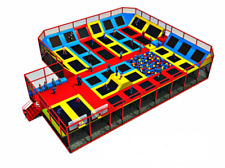 4,500 sqft Turnkey Trampoline Park Dodgeball Rock Wall Ninja Rope Gym We Finance