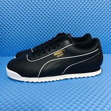 Puma Roma Basic BW (Men's Size 9.5) Athletic Sneakers Casual Black Shoes