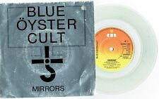 """BLUE OYSTER CULT - MIRRORS - RARE 7"""" 45 CLEAR VINYL RECORD w PICT SLV - 1979"""