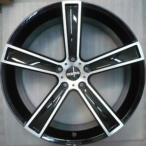 MOMO Strike Black High Alufelge 9,5x19 ET35 Audi A6 A8 VW Skoda Mercedes jante