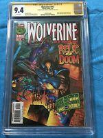 Wolverine #113 - Marvel - CGC SS 9.4 NM - Signed by Adam Kubert, Larry Hama
