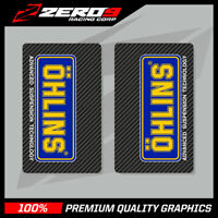 OHLINS UPPER FORK DECALS MOTOCROSS GRAPHICS MX GRAPHICS ENDURO CARBON