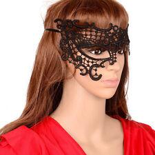Fashion Woman Hollow Out Venetian Mask Lace Sexy Face Mask Eye Masks Black