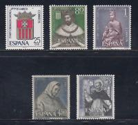 ESPAÑA (1963) MNH - NUEVO SIN FIJASELLOS SPAIN - EDIFIL 1521/25 VIRGEN MERCED