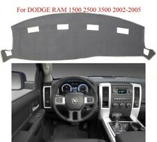 Gray Dashboard Cover Carpet Mat For DODGE RAM 1500 2500 3500 2002-2005 Anti Slip