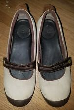 MERRELL Size 8 PLAZA BANDEAU DARK TAUPE Wedge MARY JANE LOAFERS Women's Shoes