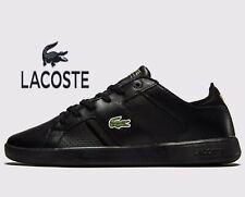 ⚫ Lacoste Novas CT 118 1 JD SPM ( Men Size UK: 10 & 11 ) Triple Black Leather