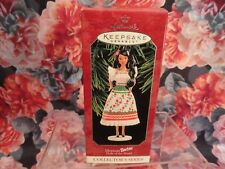 "Hallmark Keepsake Ornament Mexican Barbie ""Dolls of the World"" Coll Ser 1998 New"