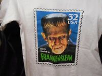 BORIS KARLOFF FRANKENSTEIN T Shirt TM and 1997 USPS UNIVERSAL CITY STUDIOS Inc.